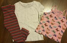3x Girls Bundle Leggings Tops Size  4-5yrs