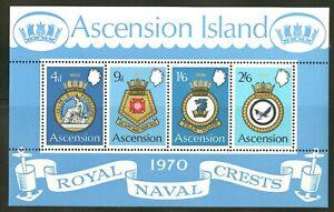 Ascension  1970   Scott # 137a   Mint Never Hinged Souvenir Sheet
