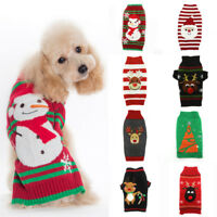 Pet Dog Christmas Sweater Clothes Winter Puppy Cat Dress XMAS Jumper Coat 47 Sty