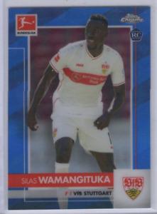 2020-21 Finest Bundesliga Blue Refractors #93 Silas Wamangituka /150 - NM-MT