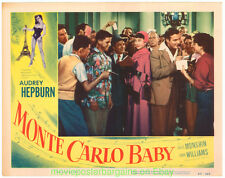 MONTE CARLO BABY LOBBY CARD 11X14 Size Movie Poster Card #5 AUDREY HEPBURN