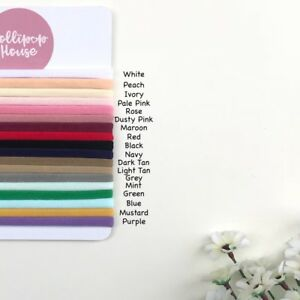 SKINNY 5 Pieces - WHOLESALE elastic baby nylon headbands, one size fits all