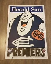 1945 CARLTON BLUES PREMIERSHIP WEG POSTER LIMITED EDITION OUT OF 1000