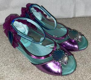 Rare Little Girl's Size 13 1 Disney Store Ariel Little Mermaid Heels Pumps Shoes