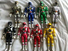 "Mighty Morphin Power Rangers 1993 Original 8"" Action Figures Complete Set Bandai"