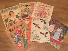 Vintage lot of French Mon Ouvrage Sewing Magazines Papers Crafts Embroidery 50's