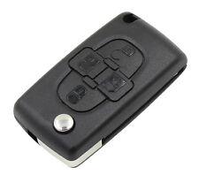 Coque Plip Boitier Télécommande Clé 4 boutons pour Citroen C8 CE0523 Lame HU83
