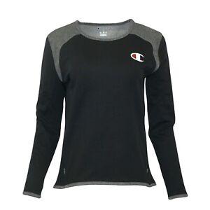 Champion Reverse Weave Women's (Black) Performance Long Sleeve Tech Crew Fleece