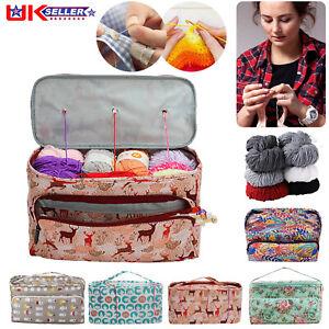 Knitting Storage Bag Wool Tote Crochet Hook Needles Accessories Organizer Holder
