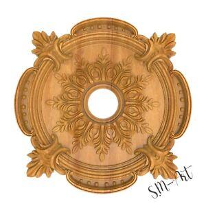 Ceiling Medallion Baroque Vintage Wood Carved Architecture Rosette Mold Ornament