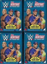(4) 2017 Topps WWE Heritage Wrestling Trading Cards Retail 64ct. Blaster Box LOT