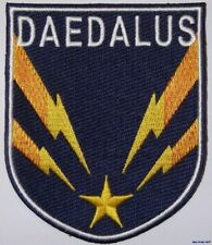 Stargate Atlantis Daedalus Ship Logo Shield Crew Embroidered Patch