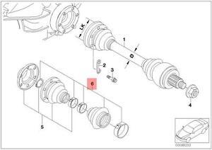 Genuine BMW E46 Z4 Rear Outer Drive Shaft CV Boot Repair Kit  OEM 33217840674
