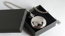 Massey Ferguson 375 MF8700 Tractor Farmer Masons Of London Silver  Pocket Watch