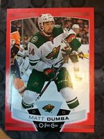 O-Pee-Chee 2019-2020 RED BORDER MATT DUMBA BLANK BACK HOCKEY CARD