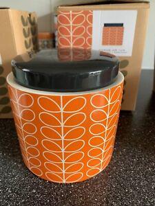 Orla Kiely Storage Jar In Box Ex Display Flower Leaf Print
