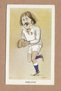 1979 Venorlandus Square Cut Blank Back Proof Card - Roger Uttley, England rugby