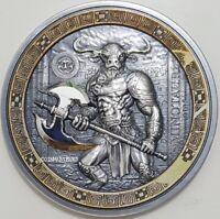 2016 2 Oz Silver $10 MINOTAUR Mythical Creatures Coin,  Palau.