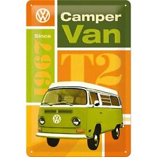 VW T2 CAMPER VAN  Blechschild 20x30 cm BULLI T1 T2 T3 T4 BUS SIGN 22240