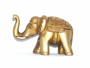 Beautiful Glückselefanten Made of Brass 3 Sizes Elephant Statue Himalaya Luck
