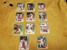 Lot of 10 ~ 1992 Fleer Boston Red Sox Baseball Cards (lot #1)