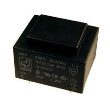 Hahn Print Trafo 230V Printtrafo 1,5VA 15V Netztrafo Transformator 098305