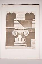 Athènes, propylées de l'Acropole, ordre ionique, relevés de E. Guillaume, v 1900