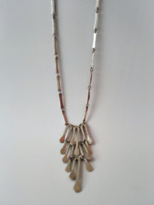 Vintage Paddles Long Mexican M-71 Necklace Chain Sterling Silver 925 Mexico
