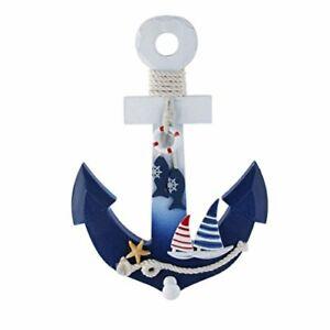 WINOMO Wooden Anchor Wall Hanging Ornament Nautical Marine Decoration