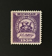 Michigan State Revenue - 25 lb. Feed Inspection Tax violet #FE4 - No Gum - MI