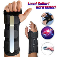 Medical Breathable Carpal Tunnel Splint Wrist Support Brace Arthritis Sprain R,L
