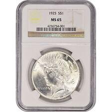 1922-1935 $1 Silver Peace Dollar NGC MS65 (Random Year)