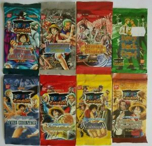One Piece Trading Card Game 8 sealed Booster Packs very Rare Italian