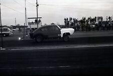 Pomona Drags Starting Line Dragster Scene - Vintage Race Negative
