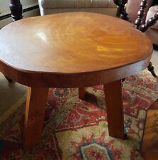 vintage heavy teak tree trunk top side ,coffee,lamp table