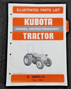 ORIGINAL KUBOTA M5500 M5500DT TRACTOR PARTS CATALOG MANUAL VERY GOOD SHAPE