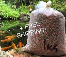 Fish Food Koi - Floating 4mm pellet - 1kg bag - FREE SHIPPING