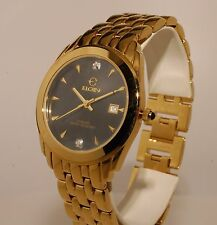 ELGIN Men's Watch Analog Gold Color New Original Box 10 years warranty