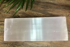 """13"""" Selenite Meditation Plate Crystal Tile Reiki Chakra Therapy Stone Cleanser."""