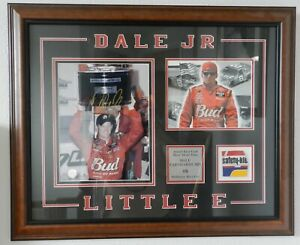 "2002 Dale Earnhardt Jr signed ""Little E"" picture with sheet metal off race car"