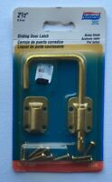 "NOS National Hardware 2-1/2"" Sliding Door Latch Brass Finish V800 N239-004"
