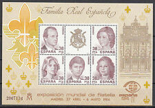 Spanien Block 27 postfrisch, Internationale Briefmarkenausstellung ESPANA'84
