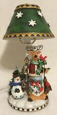 Holiday Winter Wonderland Christmas Snowman Character Table Lamp Night Light
