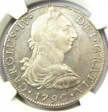 1790-MO FM Mexico Charles III 8 Reales Coin 8R - Certified NGC AU Details!