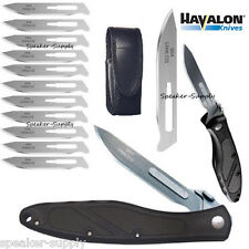 Havalon Knives Piranta Z Skinning Folding Field Knife Black + Blades XTC-60AZ
