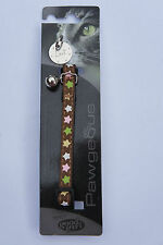 CAT COLLAR AND TAG CHEAP SALE CLEARANCE COLLAR AND TAG - BROWN STARS