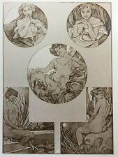 1906 Compositions Figurales, Alphonse Mucha Art Noveau arranged by H. Perleberg