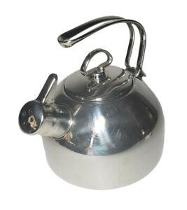 Chantal Whistling Tea Kettle 1.8 Quart Stainless Steel SL37-19 Harmonica Whistle