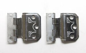 Pair of Modern Chrome Face Mount Cabinet Hinges