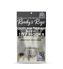 25 Whiting Bait Fishing Hooks Bream Bait hook Circle Wide Gap Reedy's